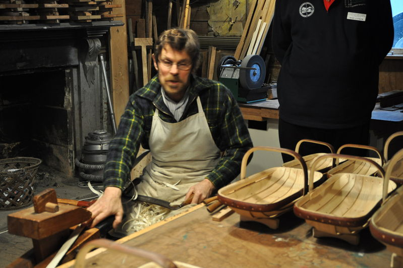 A chance meeting. The man who made all the baskets for all films in The Lord of The Rings