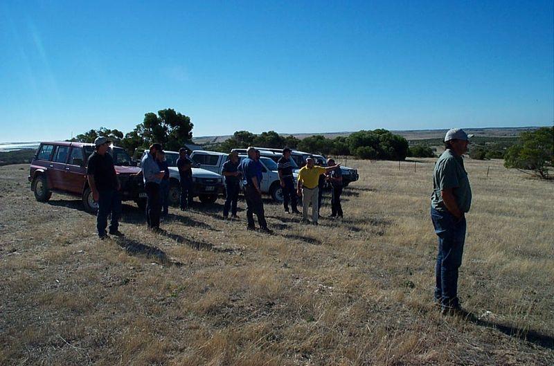 EDU Tour Tom Brinkworth's irrigation scheme and land Reclamation, Lochaber SA