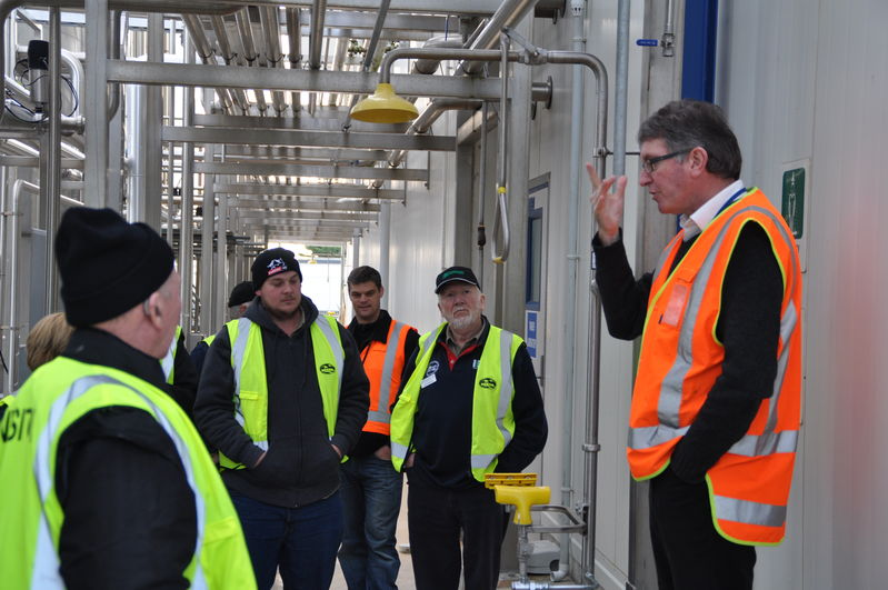 South Island milk factory tour. Part of the study tour July 2011