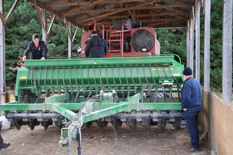 Inspecting machinery. Part of study tour July 2011