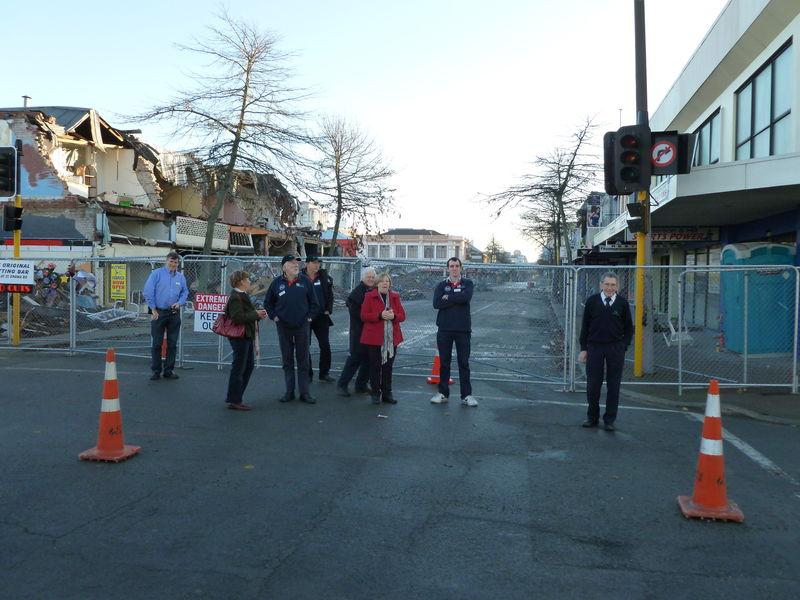 Inspecting the Christchurch damage. Part of study tour July 2011