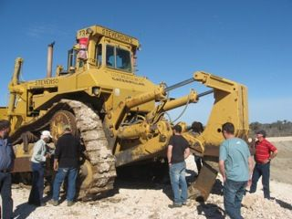 A Cat D11 on site