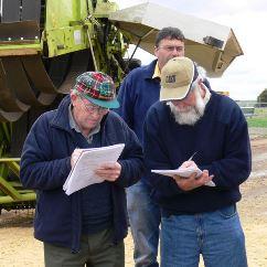 Members from Western Victoria first WEEDSTOP class Graeme Robb, Peter McIntyre, Graeme Jenkins
